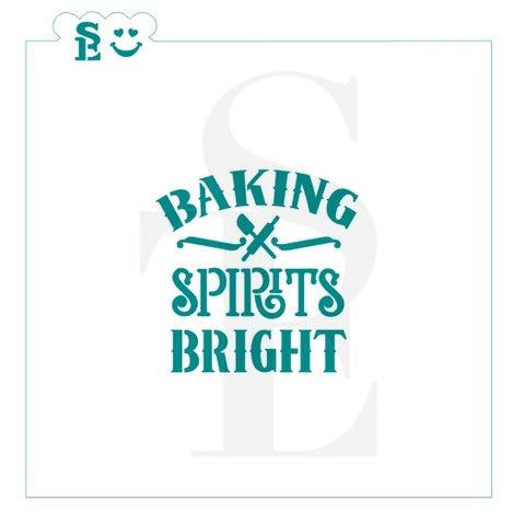 Baking Spirits Bright Stencil for Cookies, Cakes & Culinary