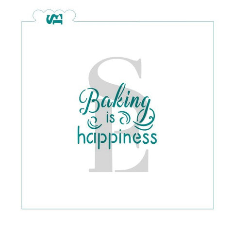 Baking Is Happiness Stencil for Cookies, Cakes & Culinary