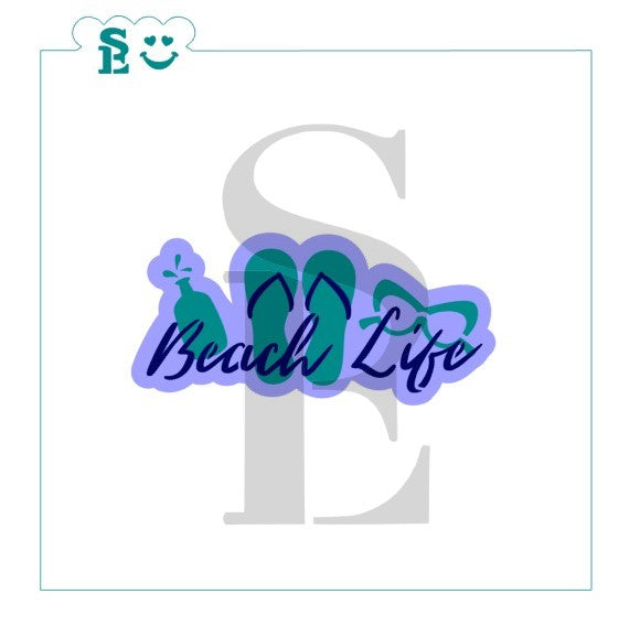 Beach Life Sentiment Stencil Set for Cookies, Cakes & Culinary