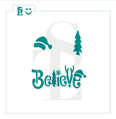 Believe with Bonus Minis Stencil for Cookies, Cakes & Culinary