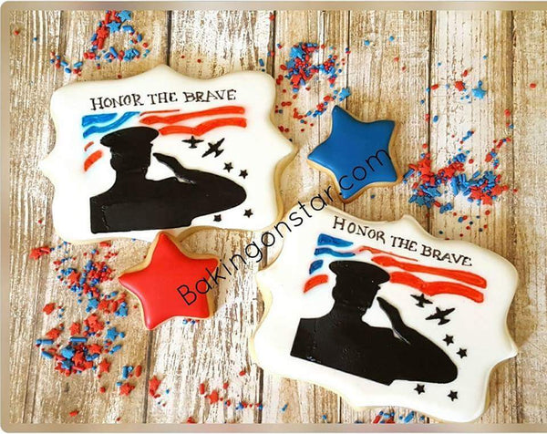 Soldier Saluting Stencil for Cookies, Cakes & Culinary