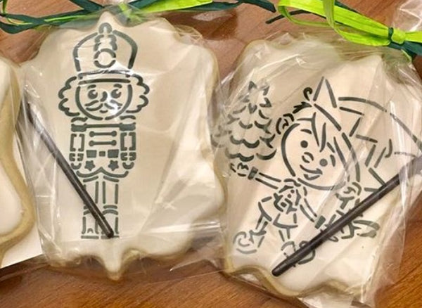 DRAWN By Krista Elf PYO Exclusive Stencil for Cookies, Cakes & Culinary