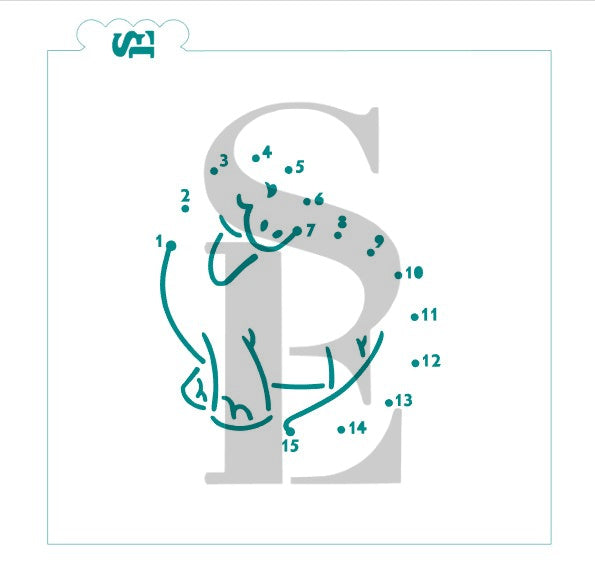 Dinosaur Connect The Dot PYO Stencil for Cookies, Cakes & Culinary *Digital Download
