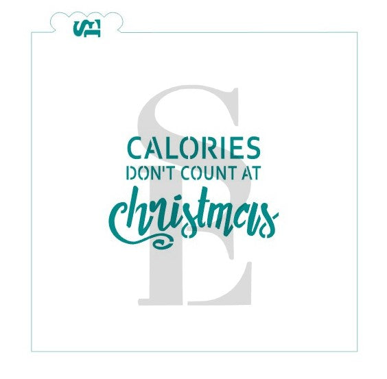 Calories Don't Count At Christmas Sentiment Digital Design