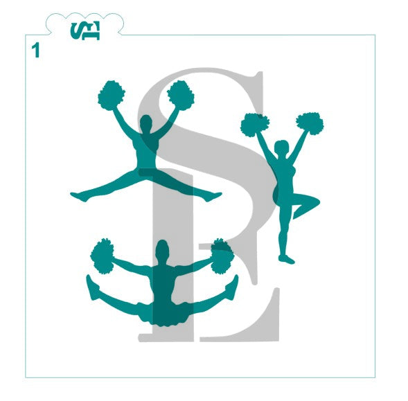 Cheerleader Silhouettes #1 and #2 Bundle Digital Design