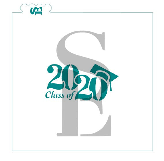 Class of 2020 #3 Cap Stencil for Cookies, Cakes & Culinary