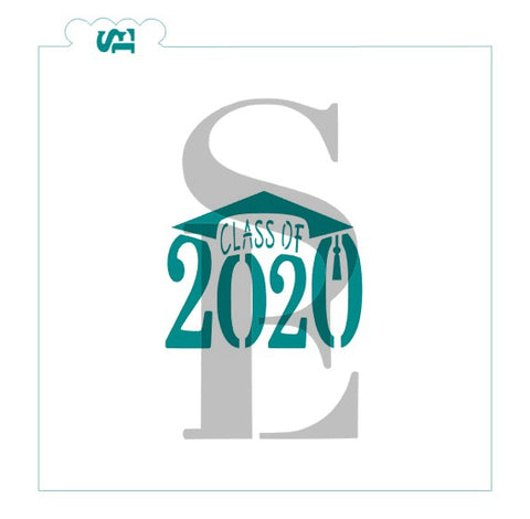 Class of 2020 Cap Stencil for Cookies, Cakes & Culinary