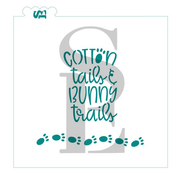 Cotton Tails and Bunny Trails Bunny feet COokie Stencil