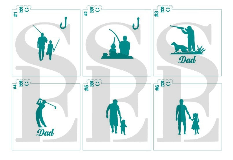 Father's Day Jumbo Bundle #2 - Simply A Dad Digital Designs Cookie Stencils
