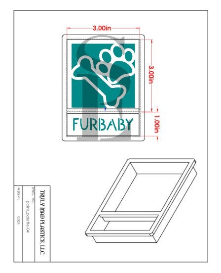 Furbaby Reverse Paw, Bone, Dog/Furbaby Stencil Splits Digital Design Cookie Stencil