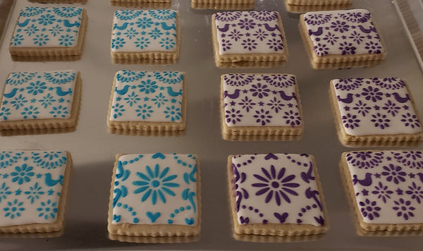 Papel Picado #2 Stencil for Cookies, Cakes & Culinary