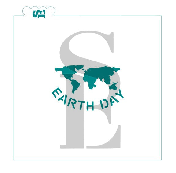 Earth Day - Globe Stencil for Cookies, Cakes & Culinary