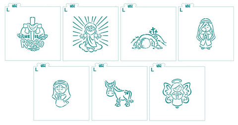 Easter Story PYO Stencil Set w/ Bonus Easter Verses for Cookies, Cakes & Culinary