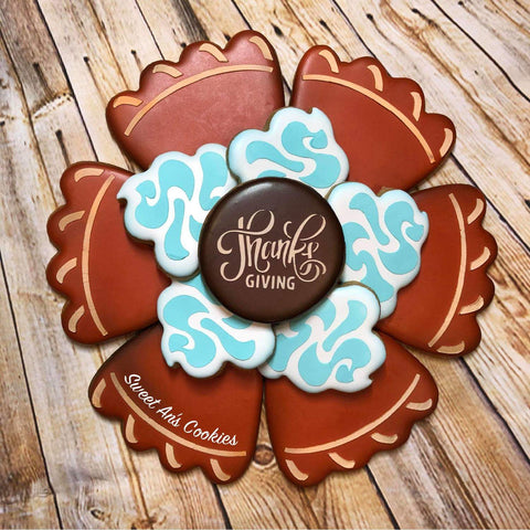 Pumpkin Pie Slices Platter 2 Pc Stencil Set for Cookies, Cakes & Culinary