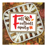 Fall Football Family, Single and Layered Digital Design