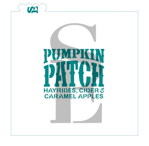 Pumpkin Patch Sentiment Digital Design Cookie Stencil