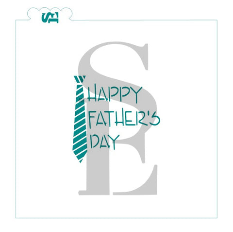 Happy Father's Day Tie Digital Download Cookie Stencil