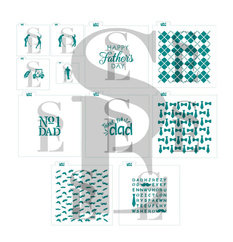 Father's Day #1 Jumbo Bundle - Golf Theme Digital Designs Cookie Stencils