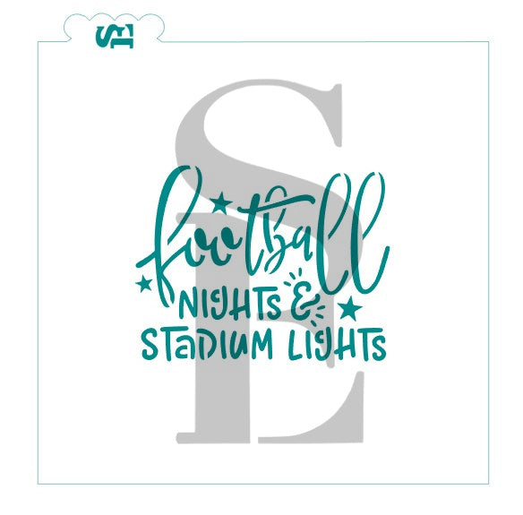 Football Nights & Stadium Lights Stencil for Cookies, Cakes & Culinary