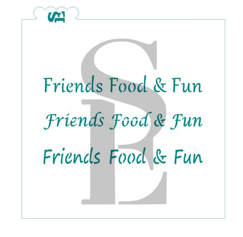 Friends Food & Fun Sentiment Value Set Stencil for Cookies, Cakes & Culinary ** Digital Download Available