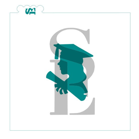 Grad Silhouettes Bundle Digital Design Cookie Stencil