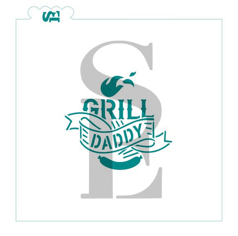 Grill Daddy Digital Design Cookie Stencil
