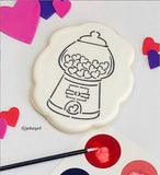 "Valentine's Gumball Machine PYO & ""I Chews You!"" Bundle Digital Design"