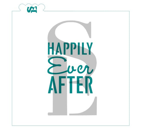 Happily Ever After #2 Stencil for Cookies, Cakes & Culinary