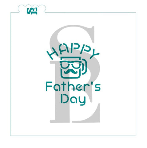 Happy Father's Day #2 w/ Mug Digital Download cookie stencil