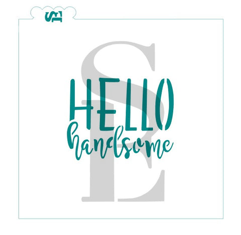 Glam Icons #4, Hello Handsome Stencil for Cookies, Cakes & Culinary