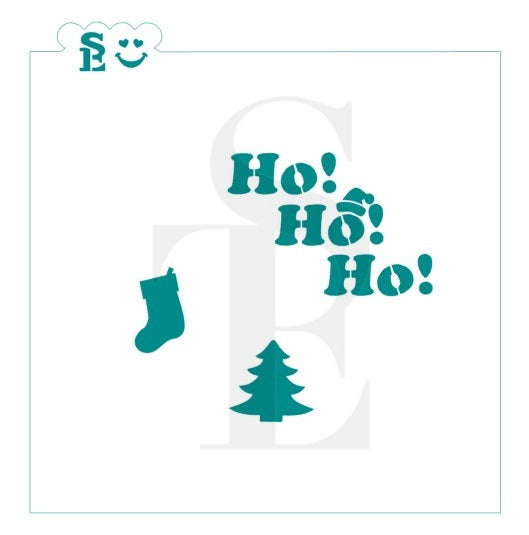 Ho! Ho! Ho! Stencil with Bonus Minis for Cookies, Cakes & Culinary