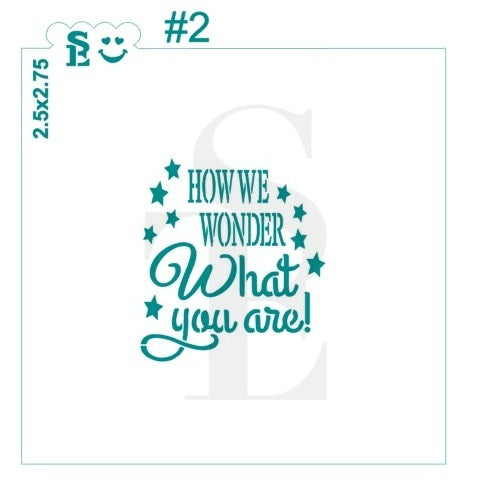 Twinkle Twinkle Little Star & How We Wonder #2 Stencil Bundle for Cookies, Cakes & Culinary