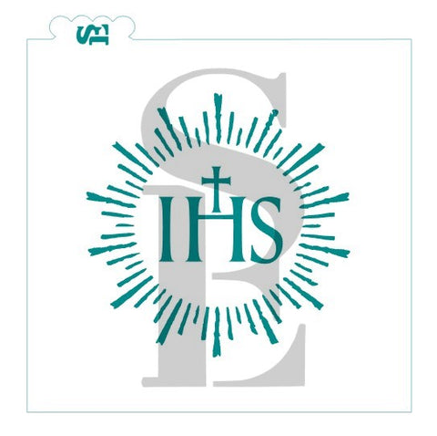IHS Christogram Monogram Communion Symbol Artisan Bread Stencil for Cookies, Cakes & Culinary
