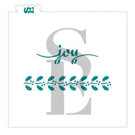 JOY Sentiment and Christmas or Spring Pattern Cookie Sticks Stencil for Cookies, Cakes & Culinary