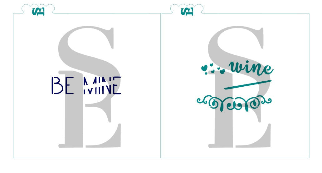 Be Mine/Wine, Single and Layered Digital Design