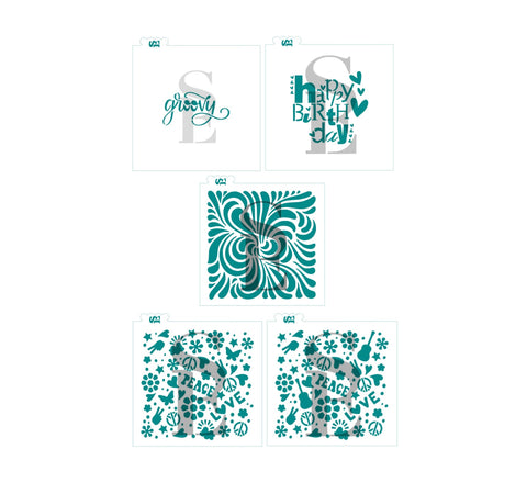 A Groovy Birthday Bundle Digital Designs