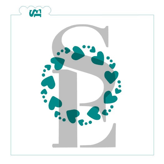 Hearts Circle And Hearts Monogram Frame Bundle Digital Design Stencil Expressions