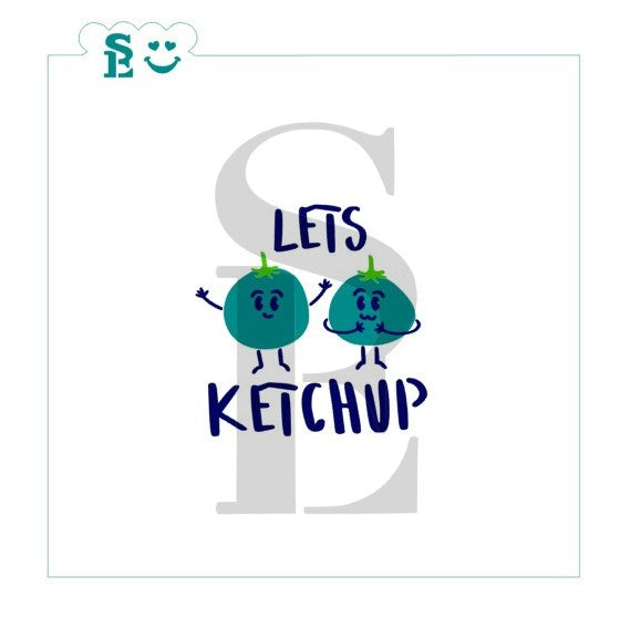 Let's Ketchup Tomatoes Stencil Set for Cookies, Cakes & Culinary