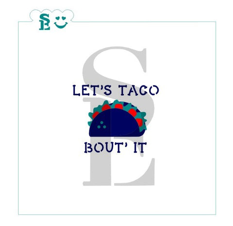 Let's Taco Bout' It Stencil Set for Cookies, Cakes & Culinary