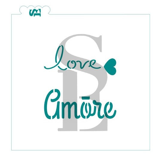 Love Amore Stencil for Cookies, Cakes & Culinary