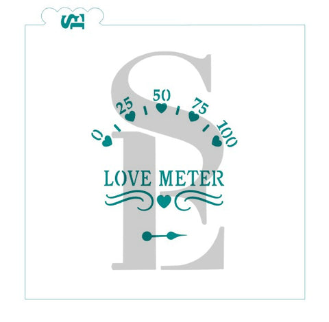 Love Meter Stencil for Cookies, Cakes & Culinary Valentine