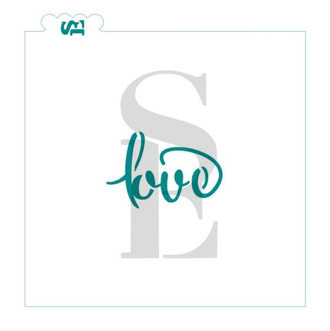 Love Script Stencil for Cookies, Cakes & Culinary