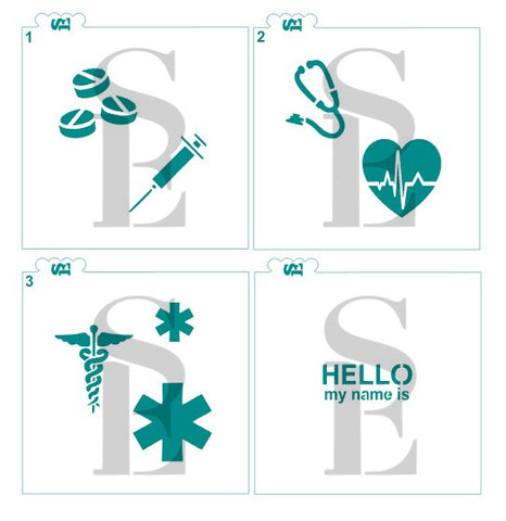 Medical Symbols Set Digital Download Cookie Stencil