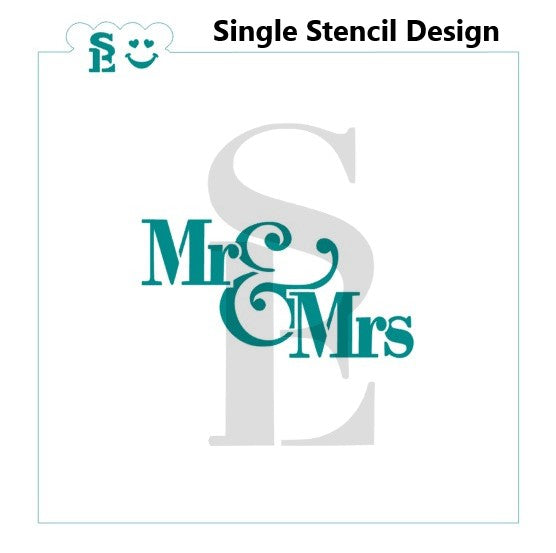 Mr & Mrs #4 Stencil for Cookies, Cakes & Culinary