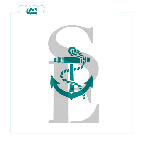 Ship Anchor Stencil for Cookies, Cakes & Culinary