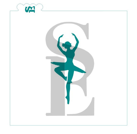 Ballerina Dancer Silhouette Digital Design
