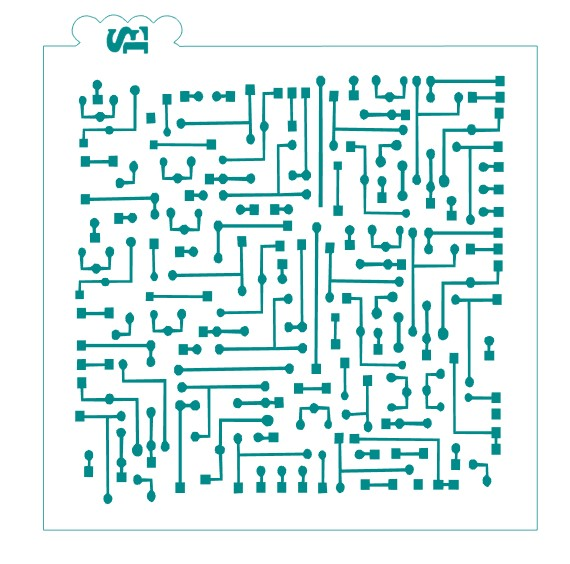 Circuit Board Background Stencil for Cookies, Cakes & Culinary
