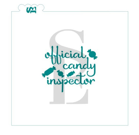 Official Candy Inspector Stencil for Cookies, Cakes & Culinary