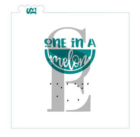 One In A Melon Reverse Stencil Set for Cookies, Cakes & Culinary