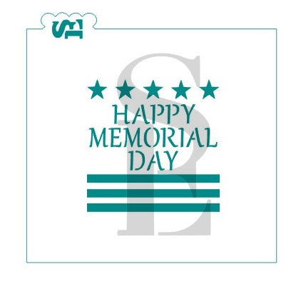 Memorial Day Patriotic Digital Design Cookie Stencil